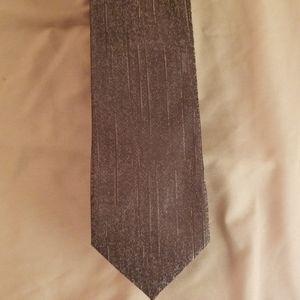 Armani mens silk tie - brown